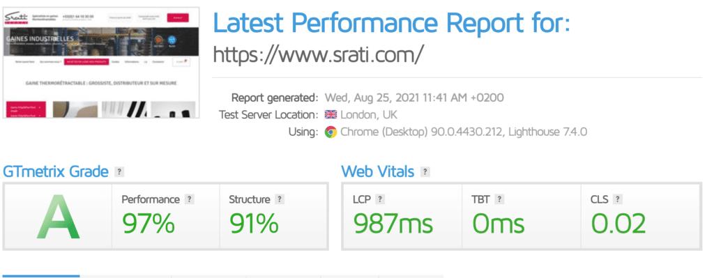 Un site web sur mesure a la pointe des performances