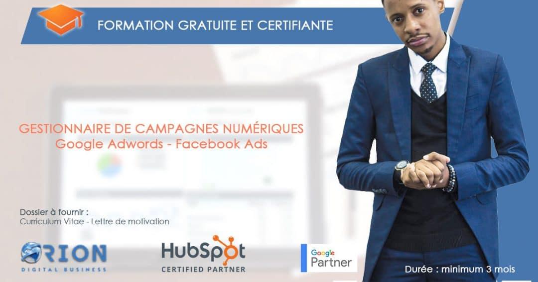 Formation gratuite : Gestionnaire de campagnes numériques