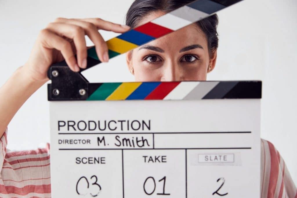 Portrait d'une femme video marketing